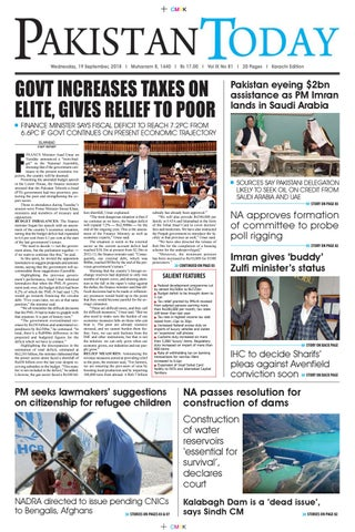 E-Paper PDF 19 September 2018 (KHI) by Pakistan Today - issuu