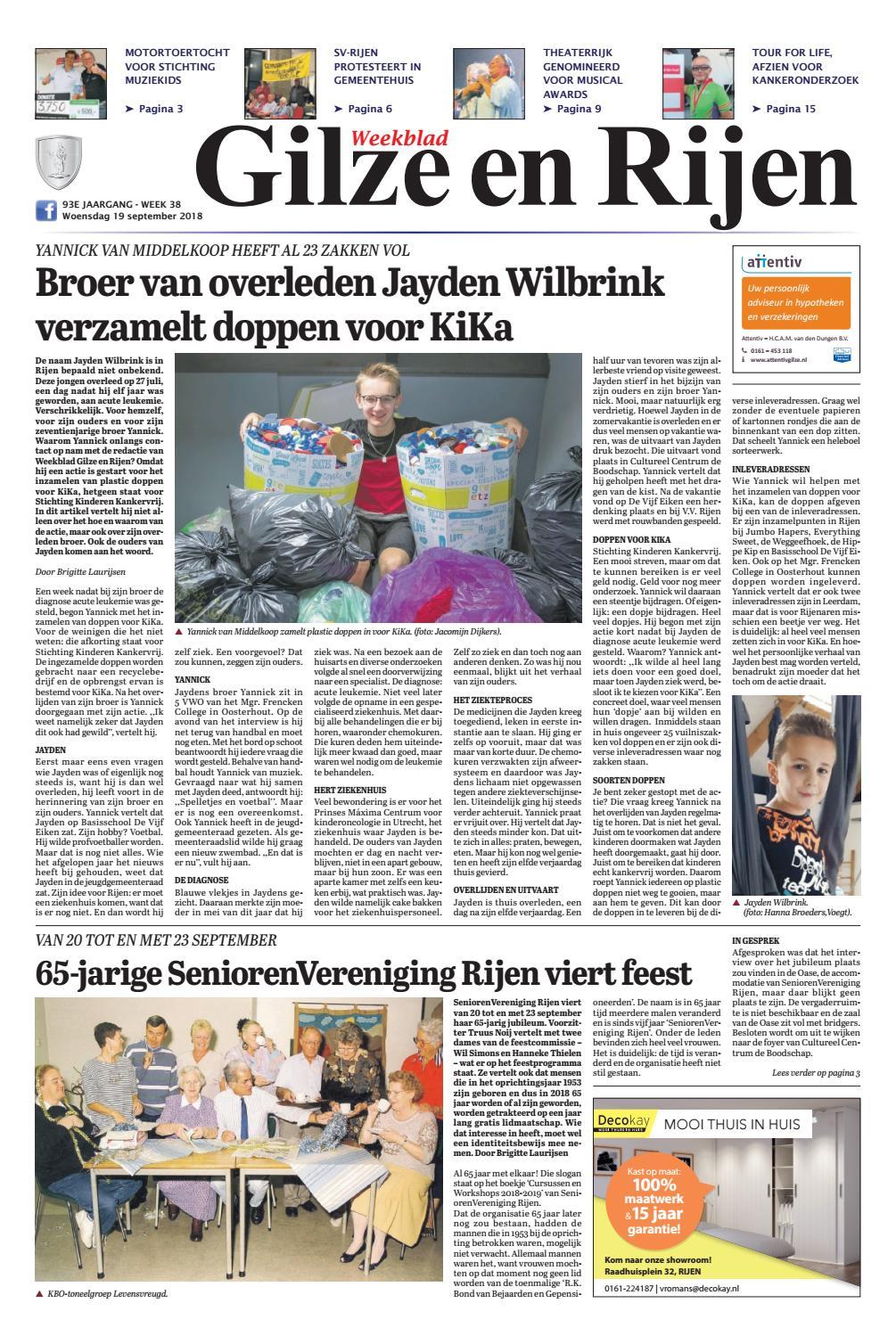 Weekblad Gilze En Rijen 19 09 2018 By Uitgeverij Em De Jong