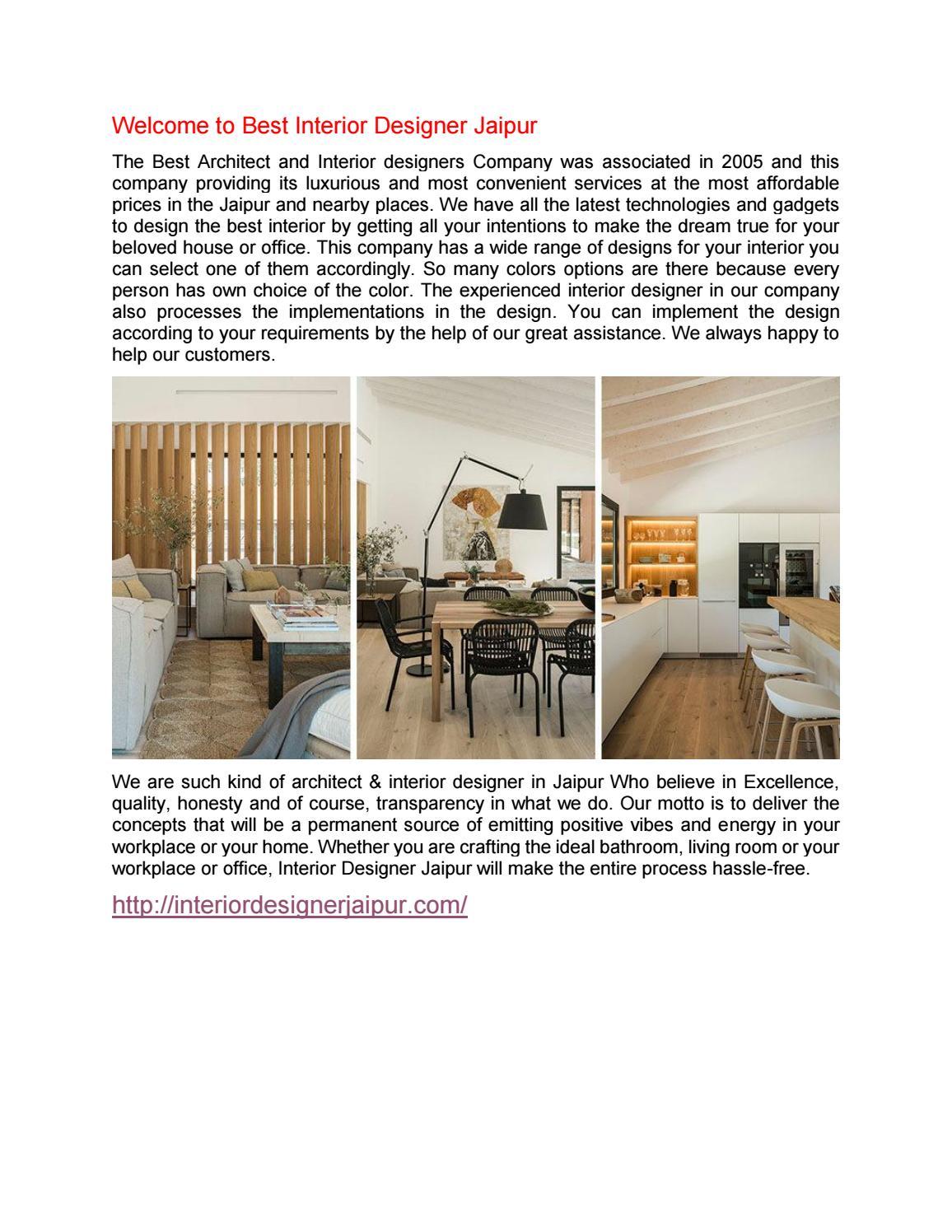Best Interior Designer In Jaipur Ll Call On 9828723800 By Interiordesignerjaipur Issuu