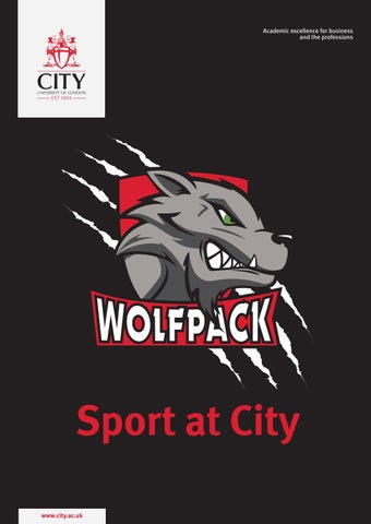The City Wolfpack magazine 2018 by City, University of
