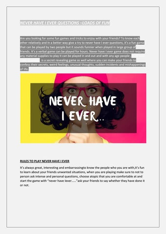 Never Have I Ever Questions Loads Of Fun By Scoopify Issuu