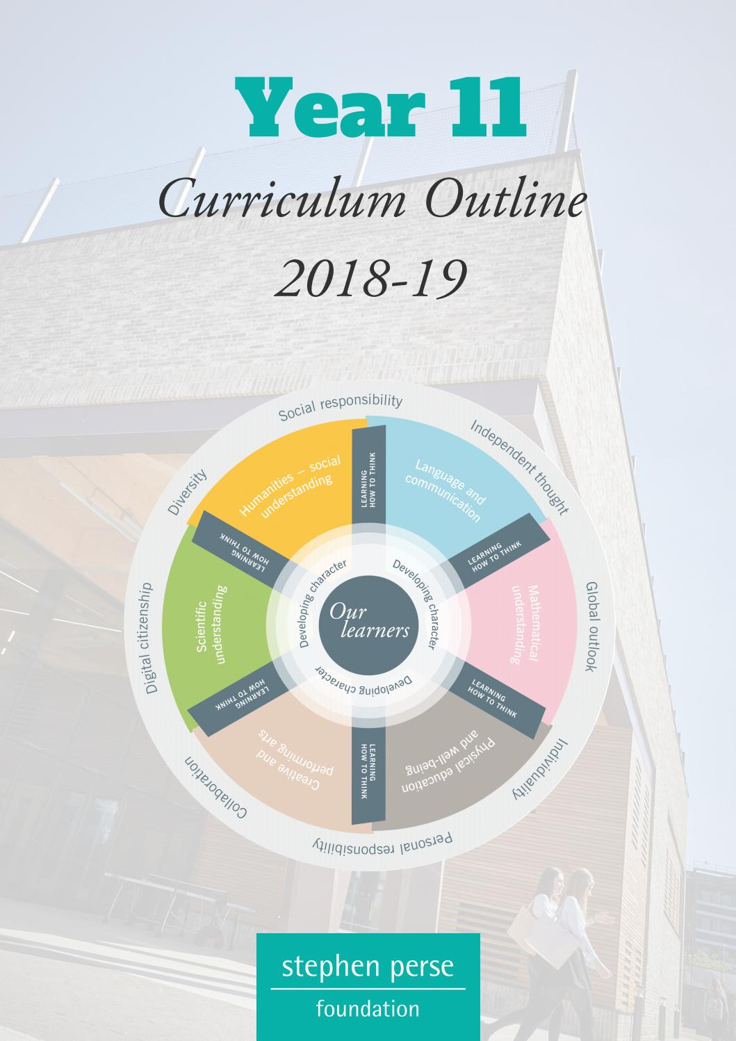 Year 11 Curriculum Outline 2018-19 by Stephen Perse