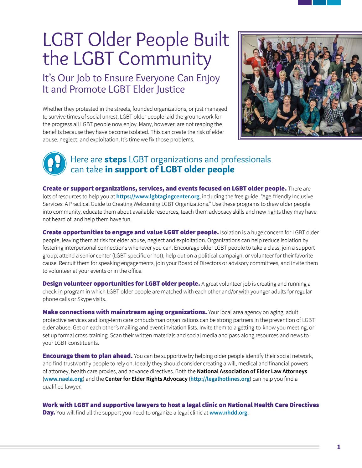 LGBT Older People Built the LGBT Community by SAGE - issuu
