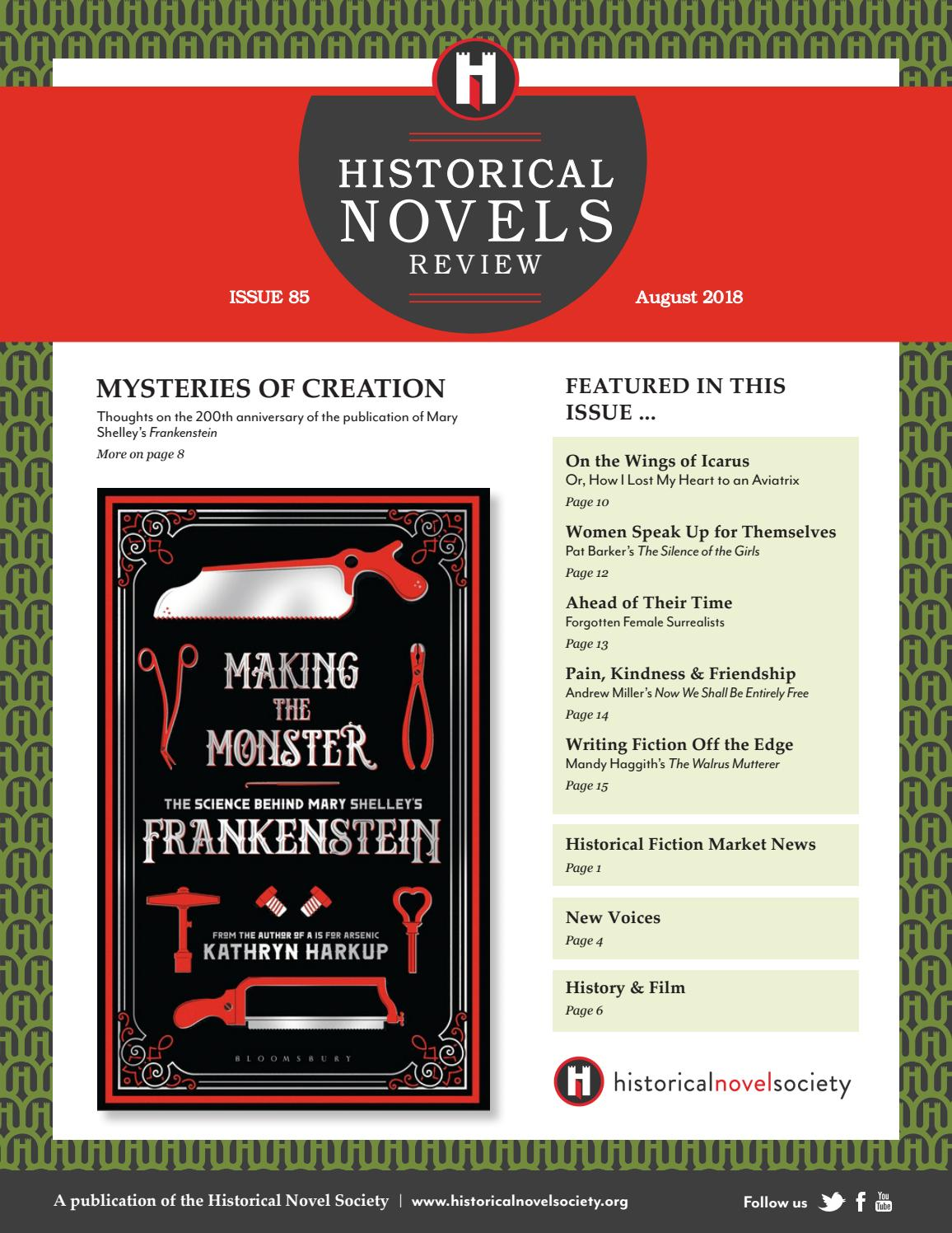 Historical Novels Review Issue 85 August 2018 By The