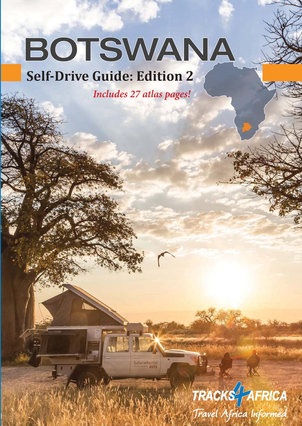 Tracks4Africa Botswana Self-drive Guide Book Edition 2