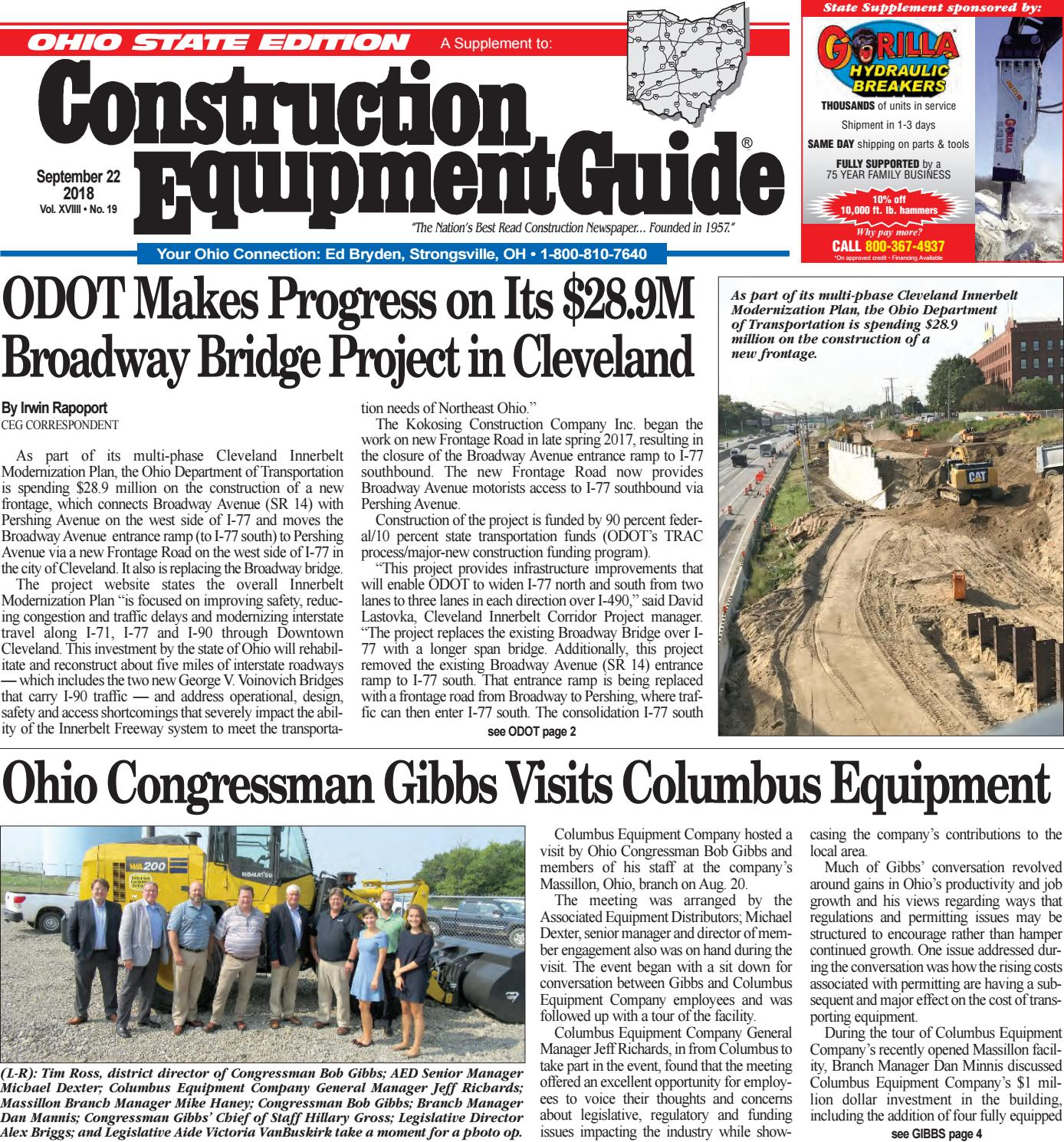 Ohio 19 September 22, 2018 by Construction Equipment Guide
