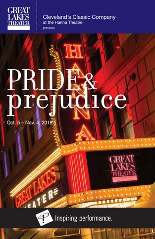 1b035a12128b PRIDE AND PREJUDICE Playbill - Fall 2018 by Great Lakes Theater - issuu