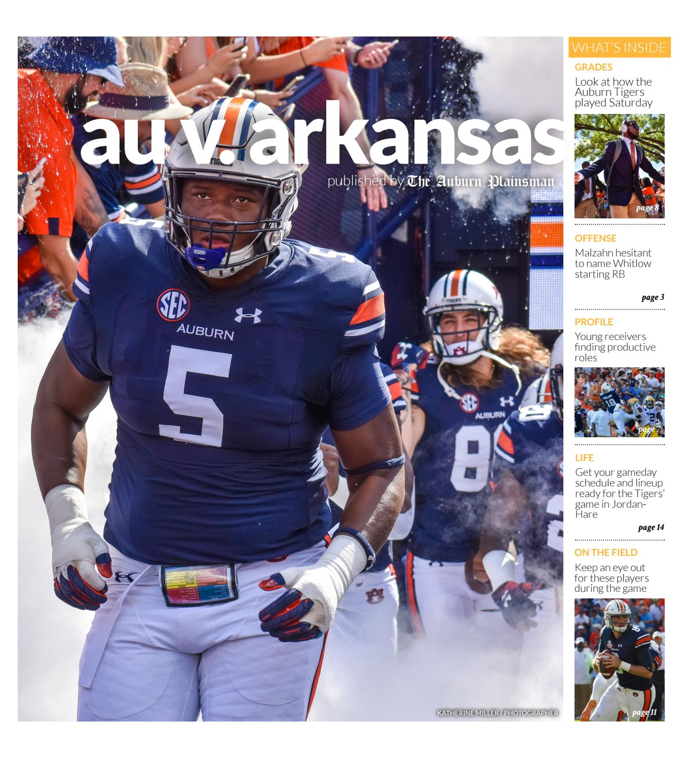 Auburn vs  Arkansas 09 20 18 by The Auburn Plainsman - issuu