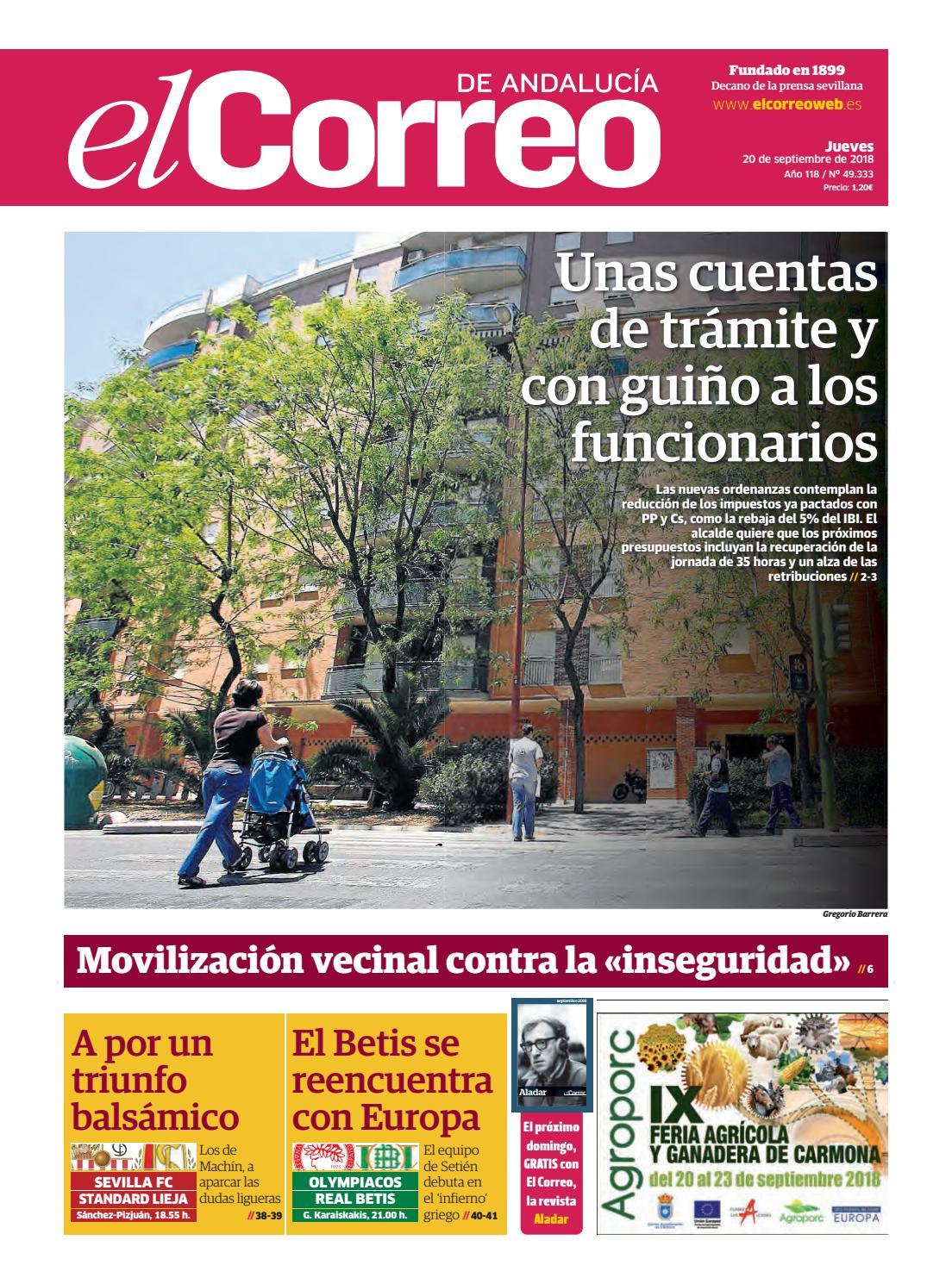 20.09.2018 El Correo de Andalucía by EL CORREO DE ANDALUCÍA S.L. - issuu 164ba55776ba4