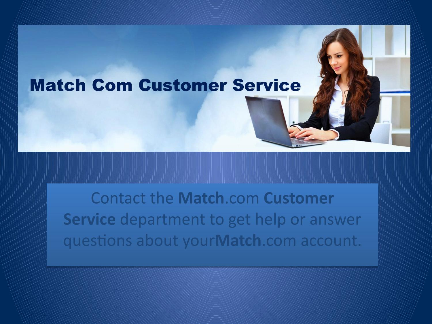 Customer service phone number for match com