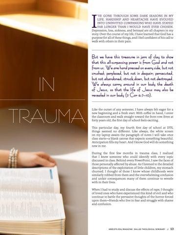 "Page 13 of I Got an ""A"" in Trauma"