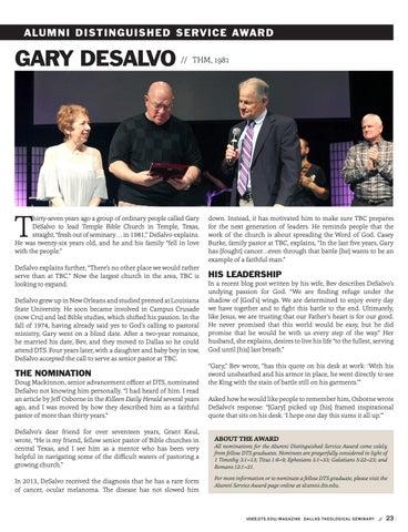 Page 23 of Alumni Distinguished Service Award
