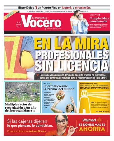 df7d2b4987590 Edición del 20 de septiembre de 2018 by El Vocero de Puerto Rico - issuu