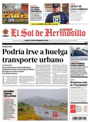 b177b3a94f8 Edición impresa jueves 20 de septiembre de 2018 by El Sol de ...
