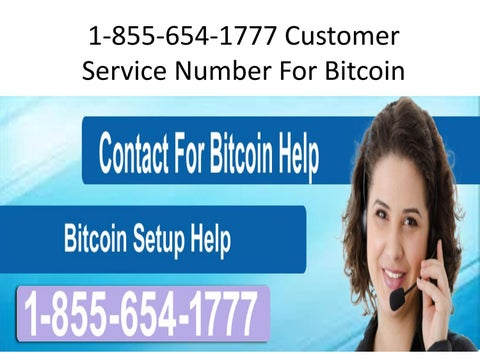 bitcoin support number
