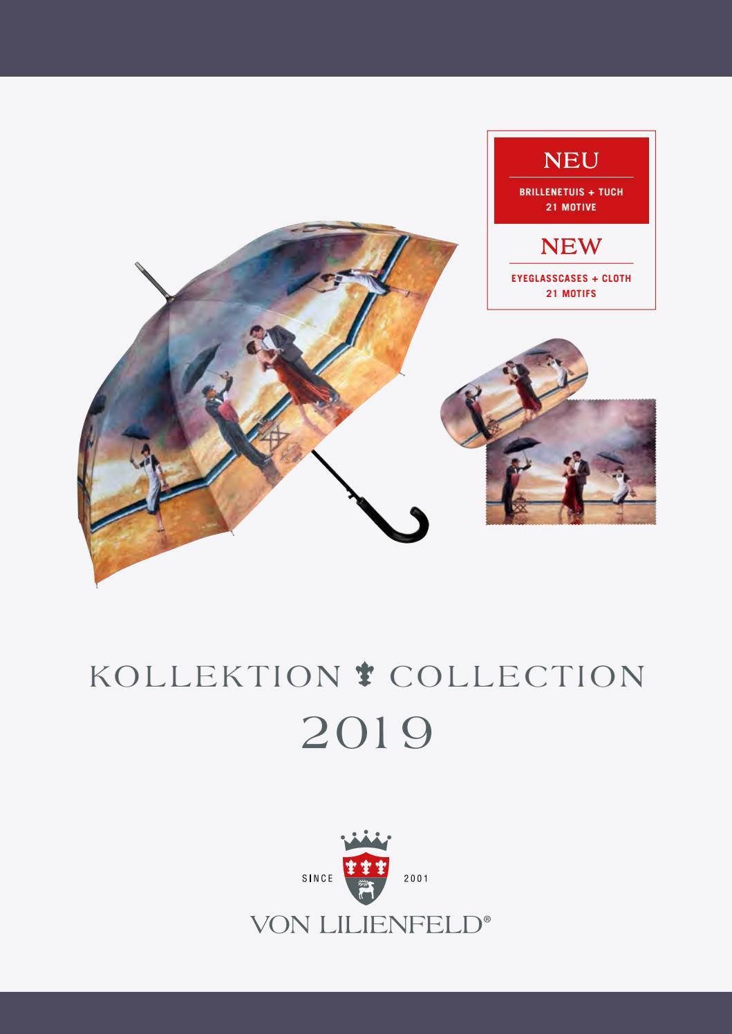 Von Lilienfeld Regenschirm Stockschirm Bayrischer Himmel doppelt bespannt