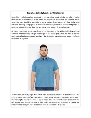 b7d027d0baf Best place to find plus size clothing for men - bigbanana by ...