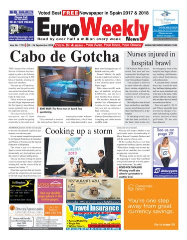 Euro Weekly News - Costa de Almeria 20 - 26 September 2018