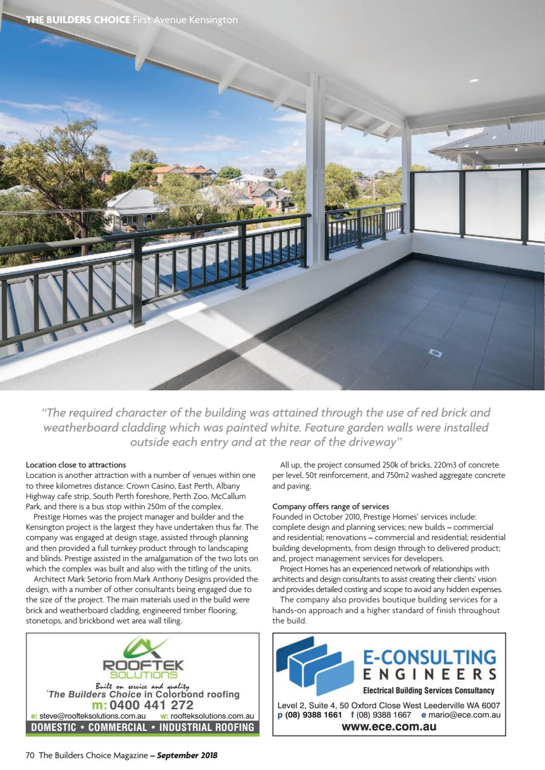 The Builders Choice September 2018 By Issuu Electrical Design Consultancy Commercial Industrial