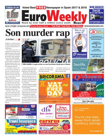 Euro Weekly News - Costa Blanca South 20 - 26 September 2018 Issue ...