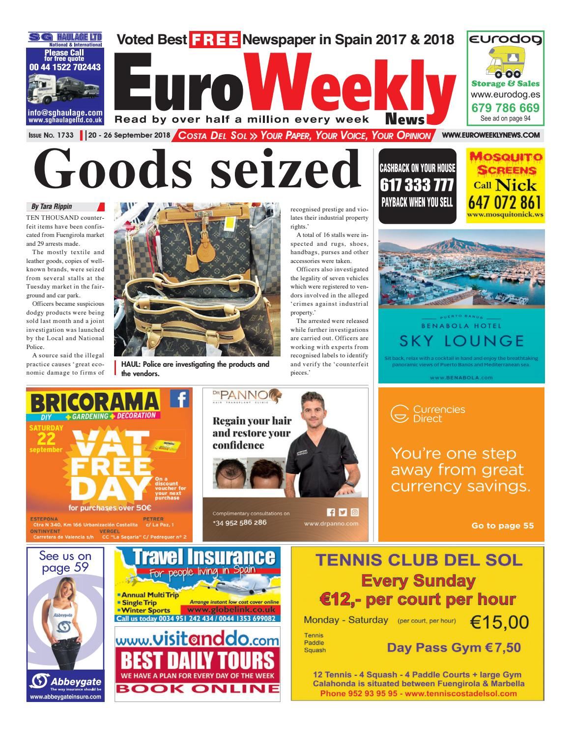 c42fa4652b3 Euro Weekly News - Costa del Sol 20 - 26 September 2018 Issue 1733 by Euro  Weekly News Media S.A. - issuu