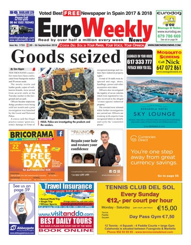 Euro Weekly News Costa del Sol 20 26 September 2018