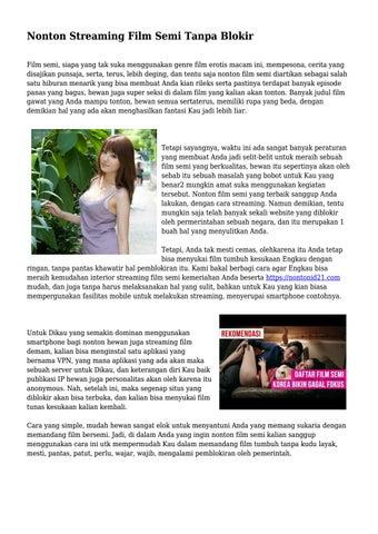 Nonton Streaming Film Semi Tanpa Blokir by wowteknogrup - issuu
