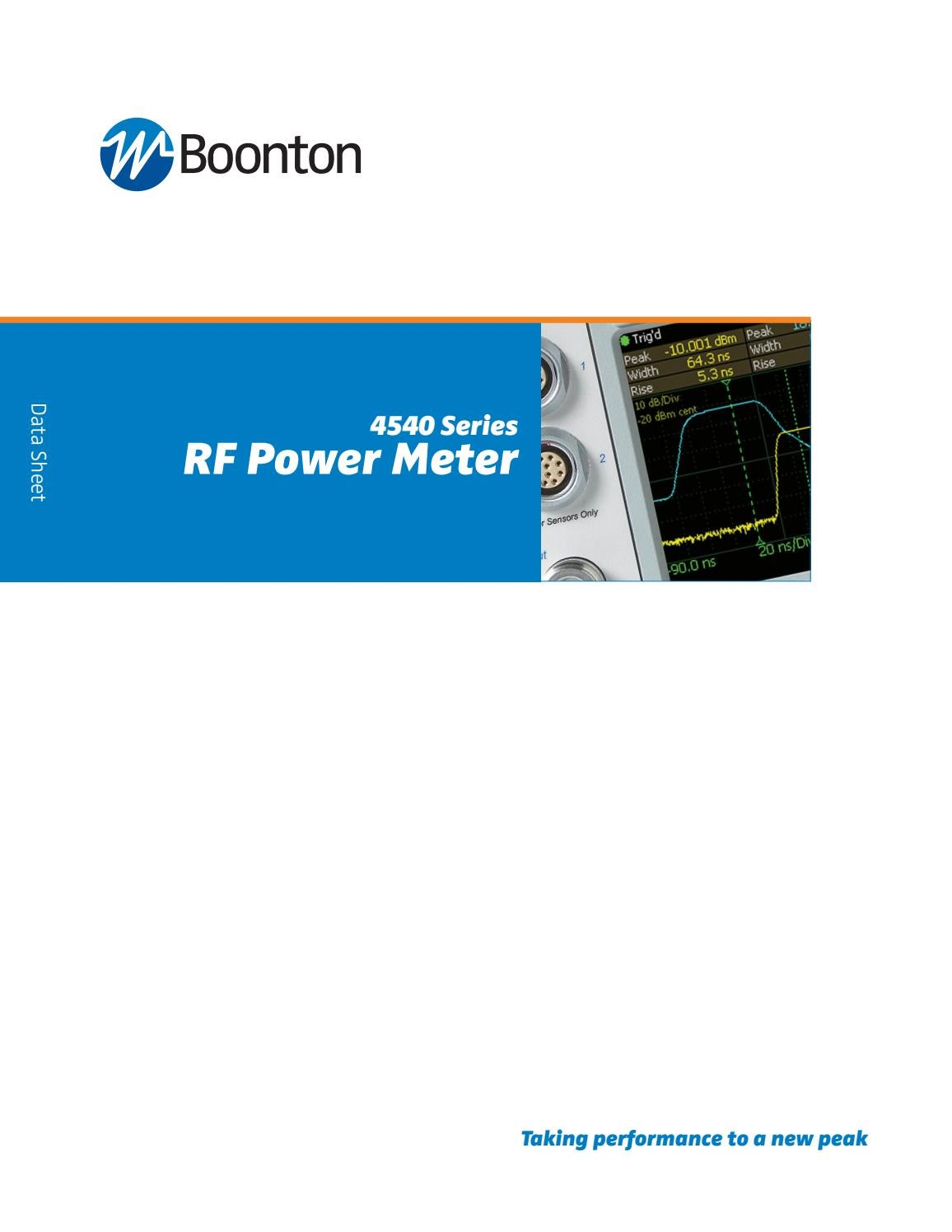 Aimil Offers You Boontons Rf Power Meters Sensors 4540 4541 Datasheet Series By Ltd Issuu