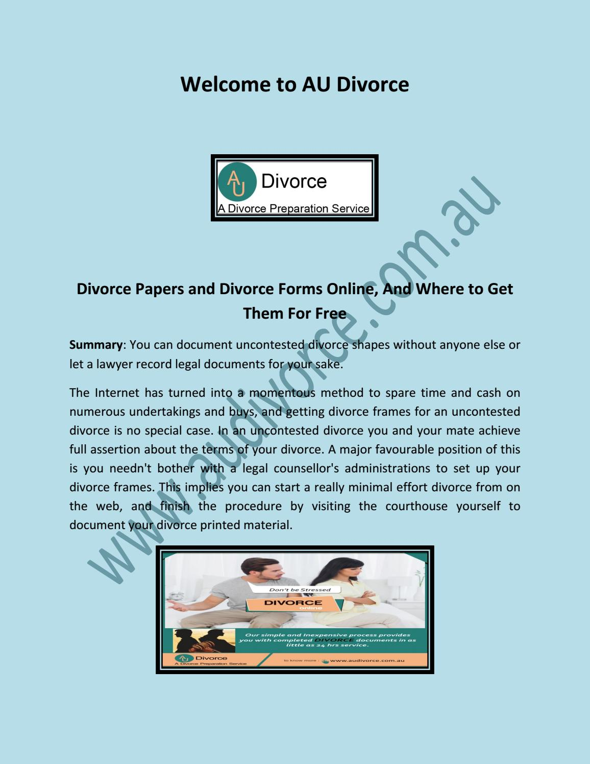 How To Get A Divorce >> Divorce Forms Online How To Get A Divorce Online Apply For