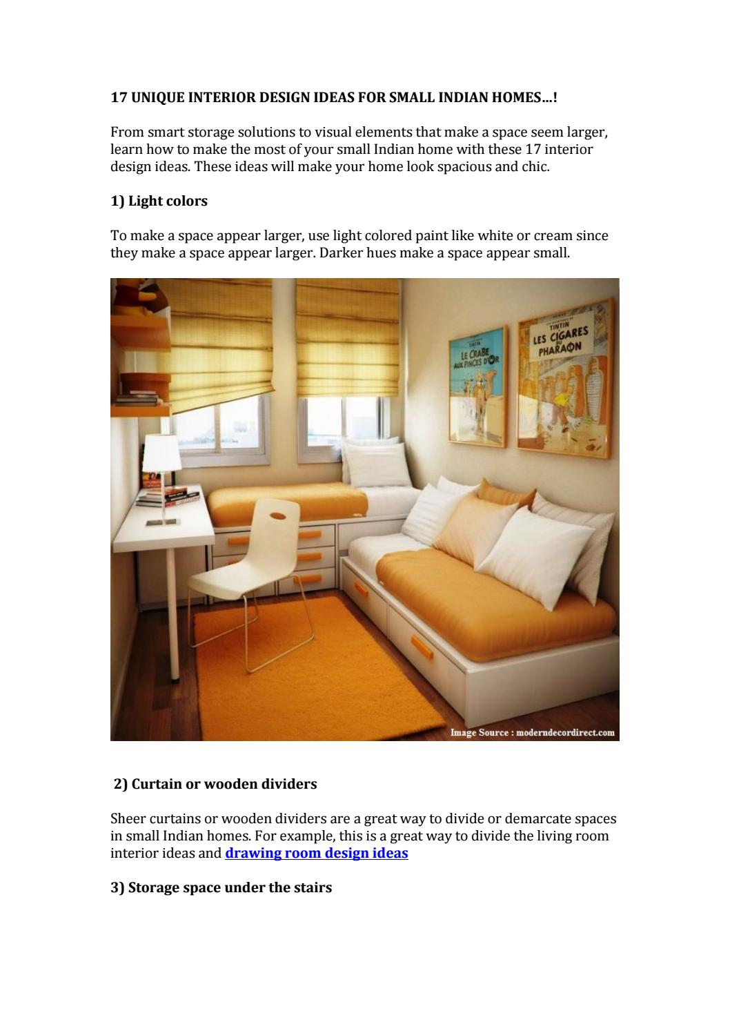 17 Unique Interior Design Ideas For Small Indian Homes Idprop Blog By Idprop Issuu