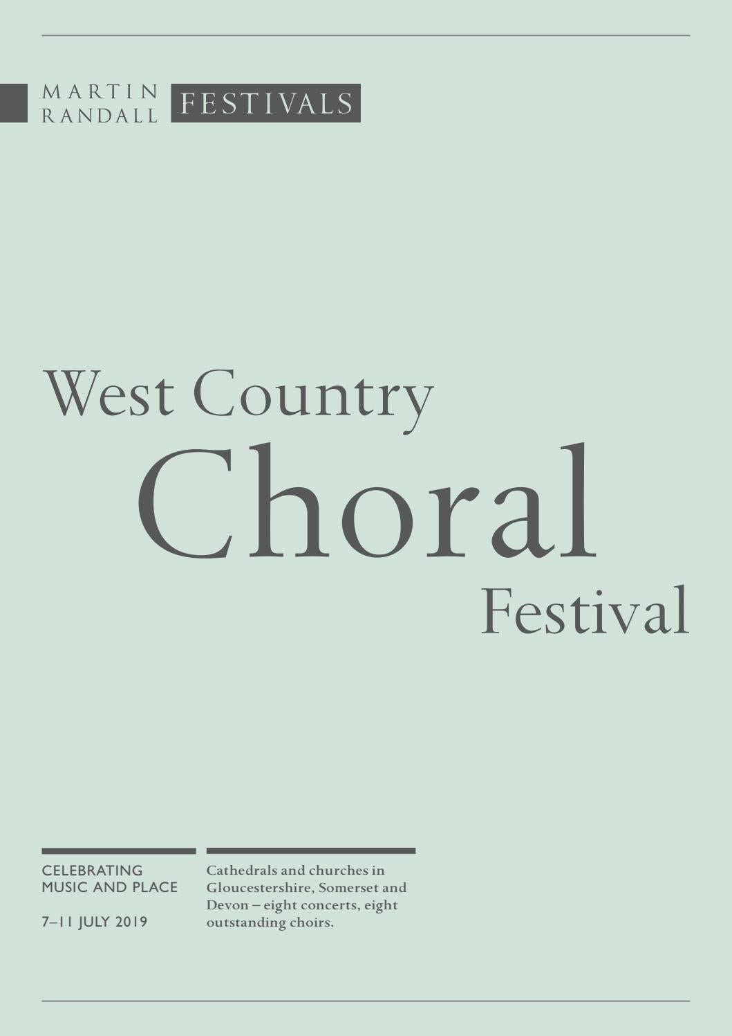 West Country Choral Festival, 7–11 July 2019 by Martin