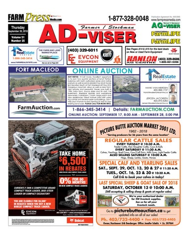 Southern Alberta Advisor September 20 2018 By Black Press