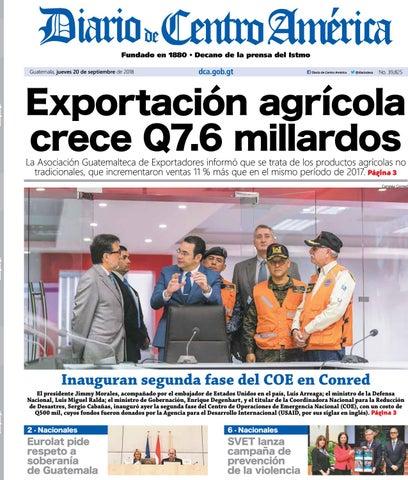 Edición del Diario de centro américa del 20 de septiembre 2018 by ... dbbc870fb1f91