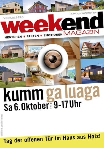 Weekend Magazin Vorarlberg 2018 Kw 38 By Weekend Magazin Vorarlberg Issuu