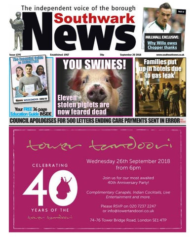 20th September 2018 By Southwark News Issuu