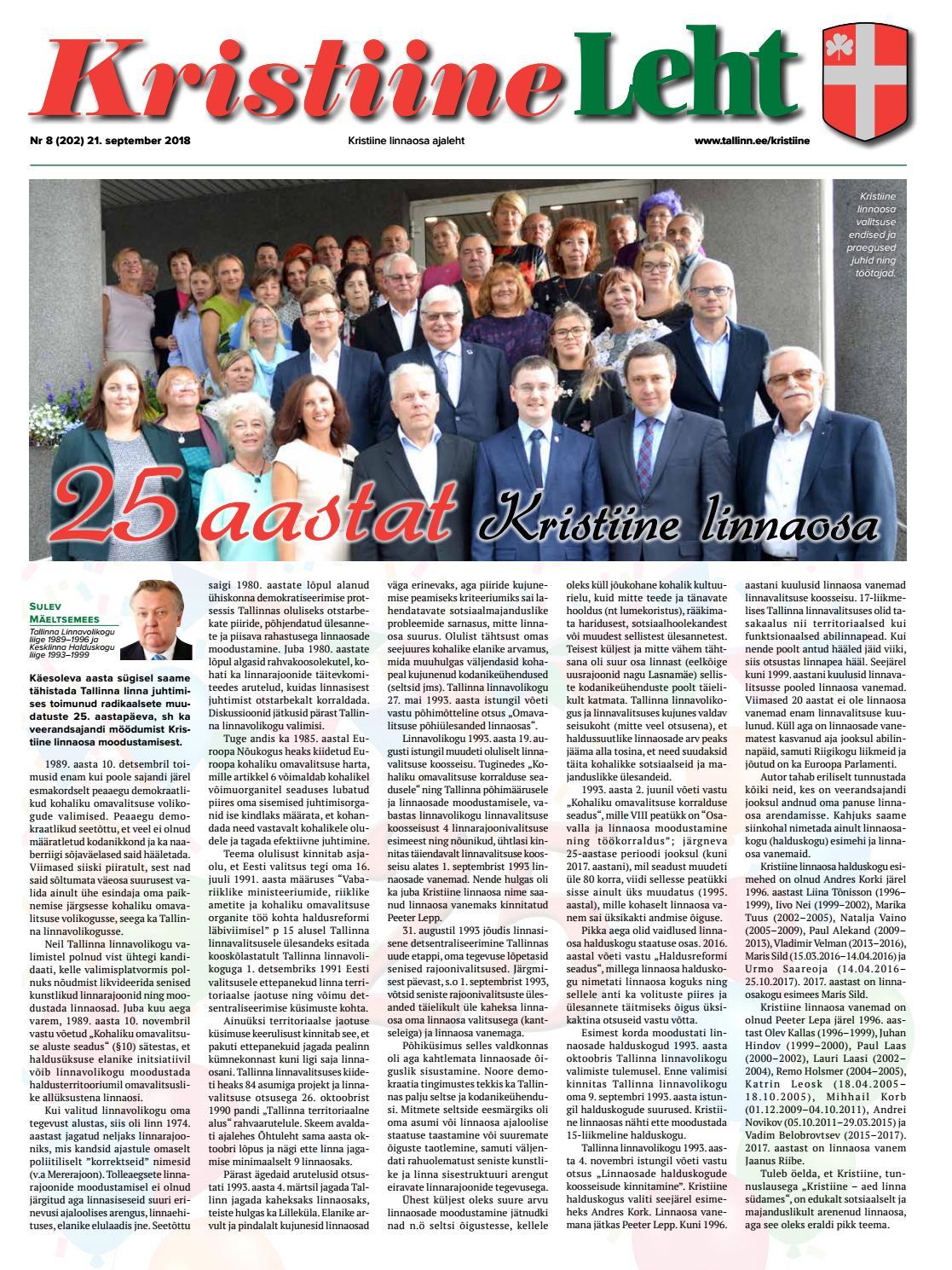 2b7188d4b12 Kristiine Leht 21.september 2018 by kristiinelv - issuu