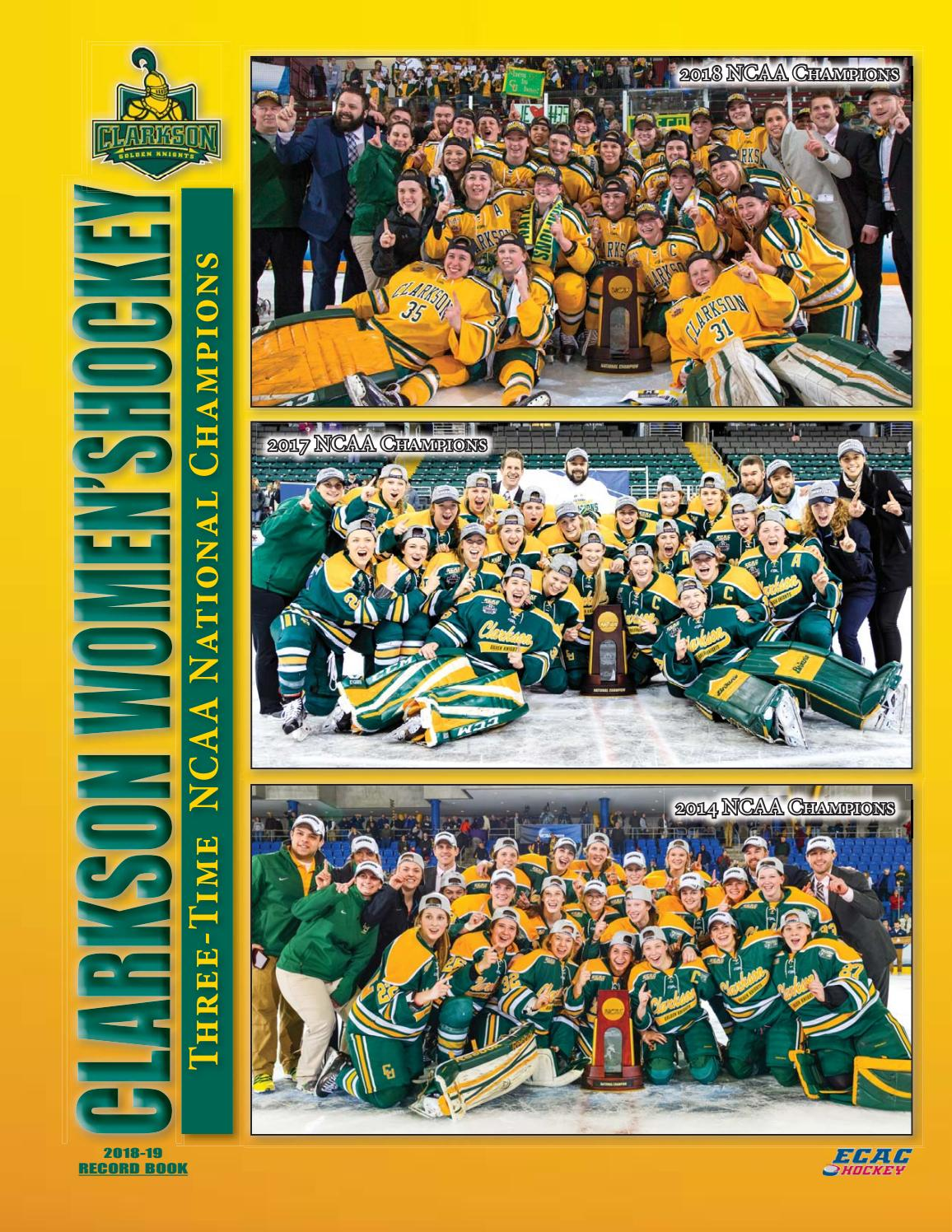 4cf9ca3973 2018-19 Clarkson University Women s Hockey Record Book by Gary Mikel - issuu