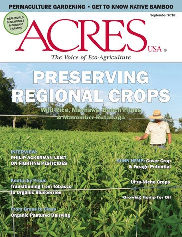 September 2018 Issue Of Acres Usa Magazine By Acres Usa The