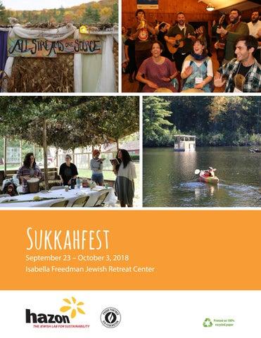 Sukkahfest program book 2018 by Hazon - issuu