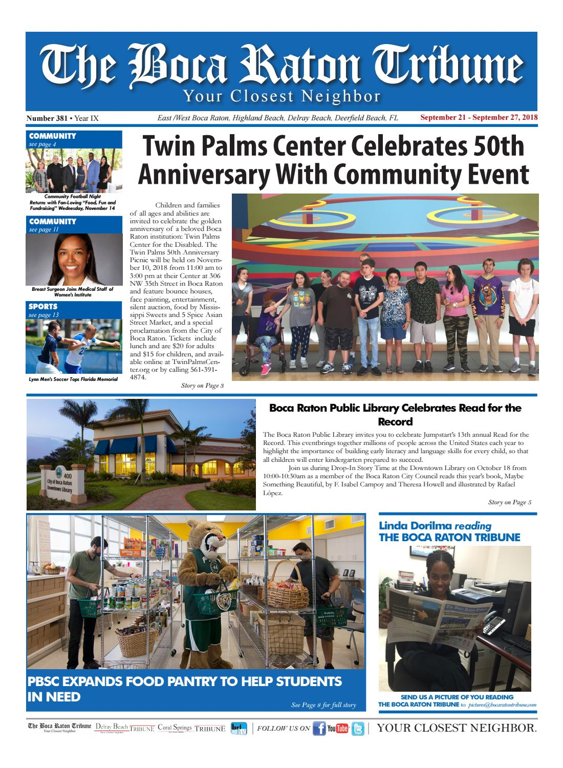 The Boca Raton Tribune ED 381 by The Boca Raton Tribune - issuu