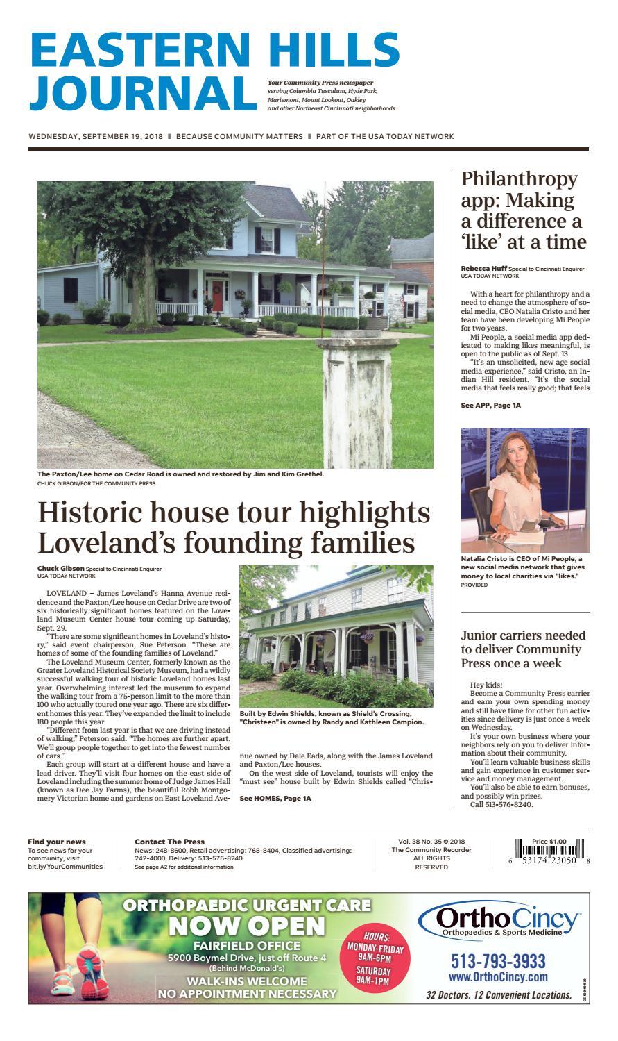 Eastern Hills Journal 09/19/18 by Enquirer Media - issuu