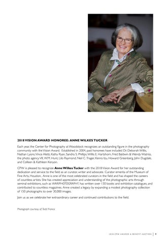 Page 11 of Vision Award Honoree Anne Wilkes Tucker