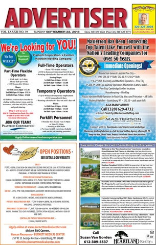 Pine Advertiser 92318 by Kanabec County Times/Pine City