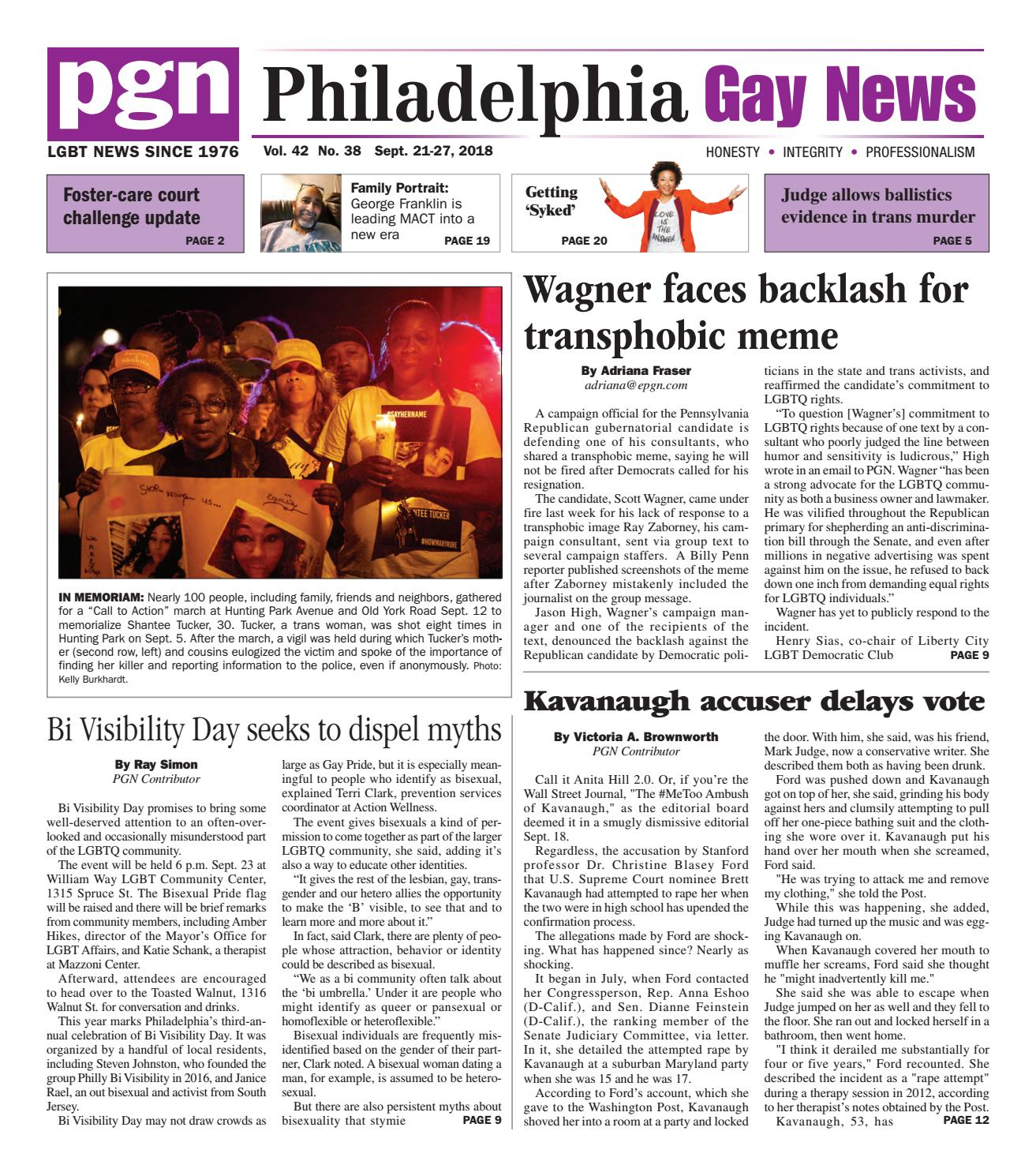 da070bfe3 PGN Sept. 21 - 27, 2018 by The Philadelphia Gay News - issuu