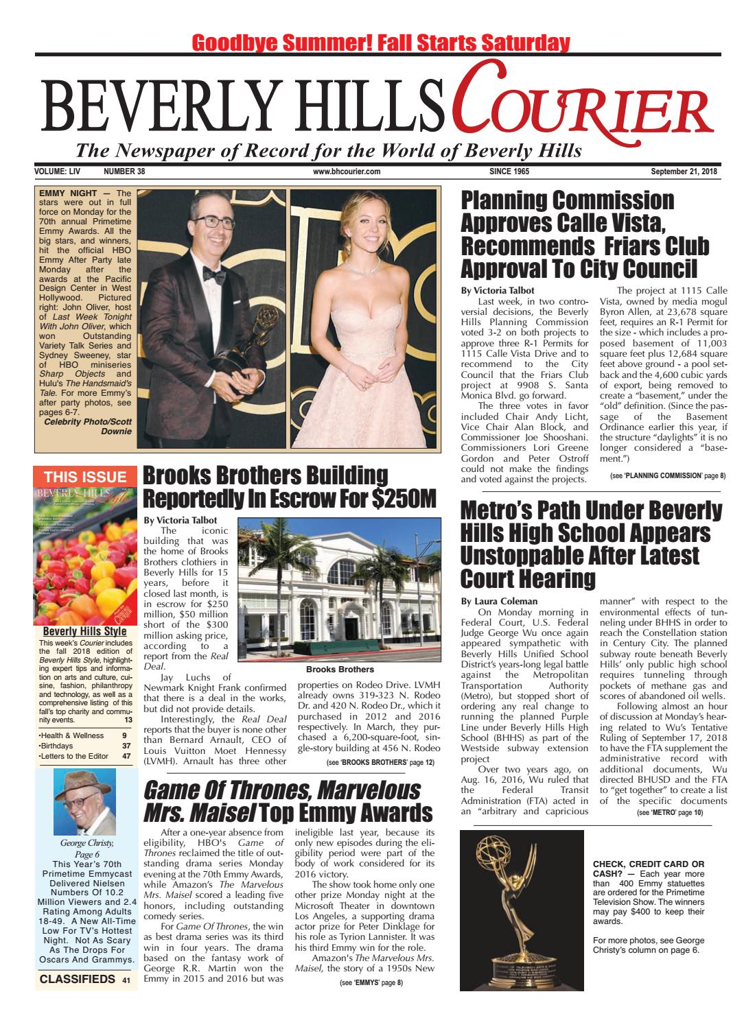 3860c304708 BHCourier E-edition 092118 by The Beverly Hills Courier - issuu
