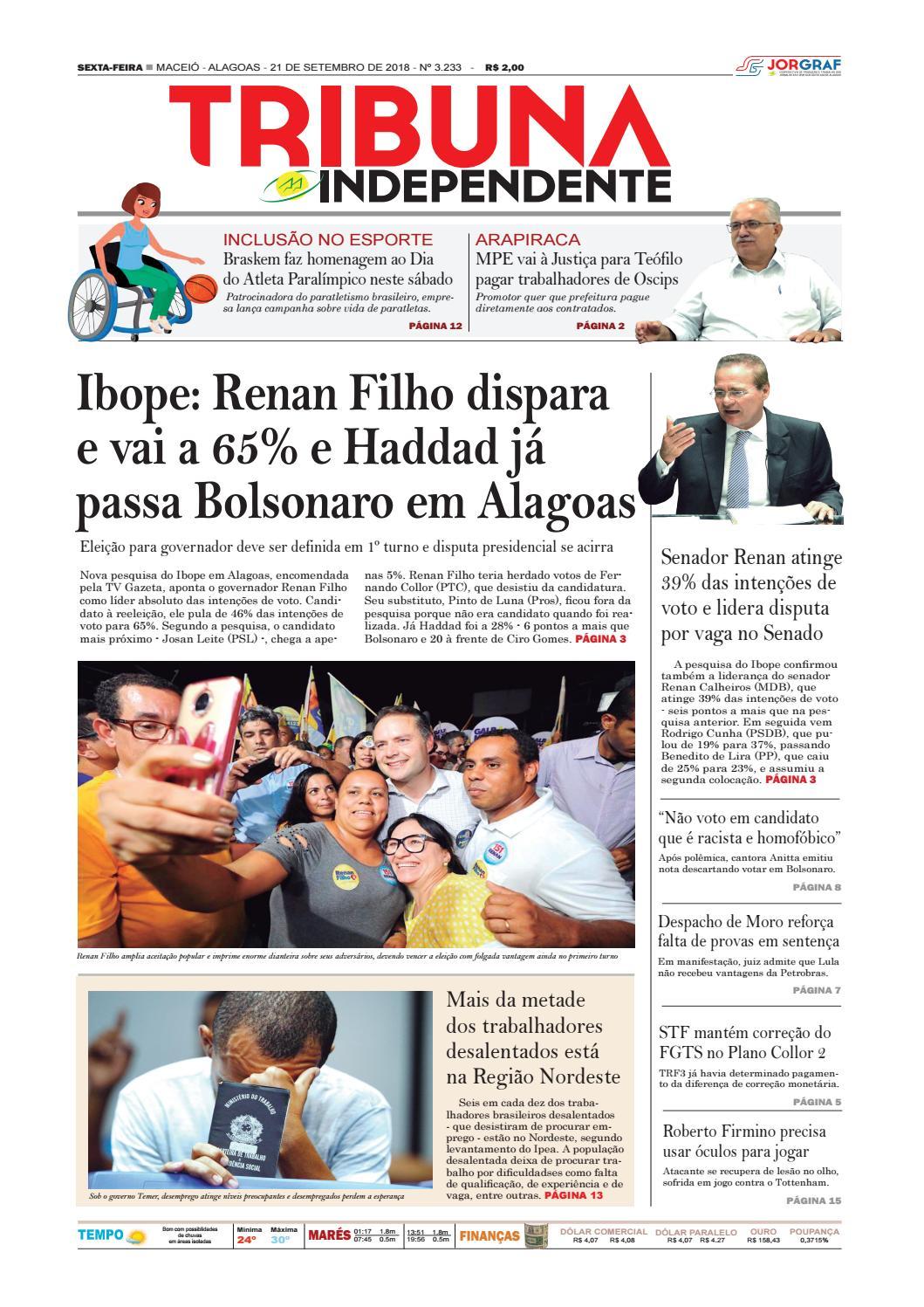 bbec00c1c8892 Edição número 3233 - 21 de setembro de 2018 by Tribuna Hoje - issuu