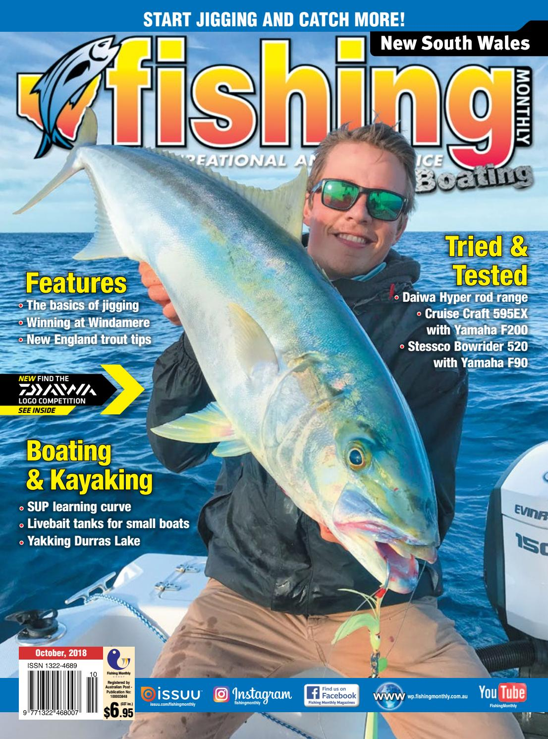 0cad7784 NSW Fishing Monthly October 2018 by Fishing Monthly - issuu