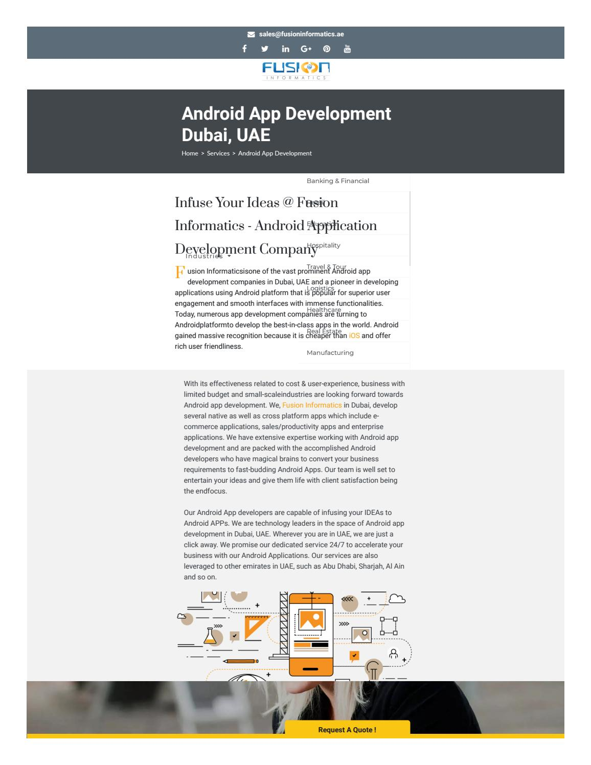 List Of Android App Development Companies In Dubai by s