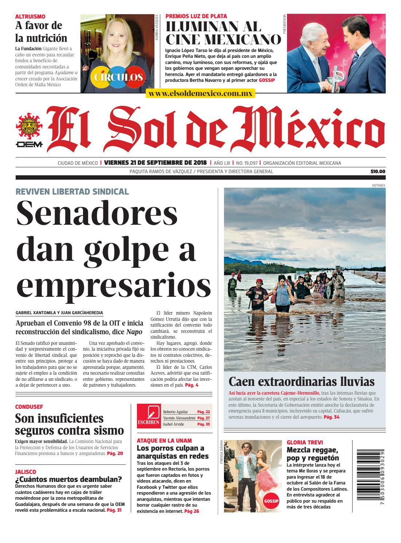 d505d9d353bf0 El Sol de México 21 de septiembre 2018 by El Sol de México - issuu