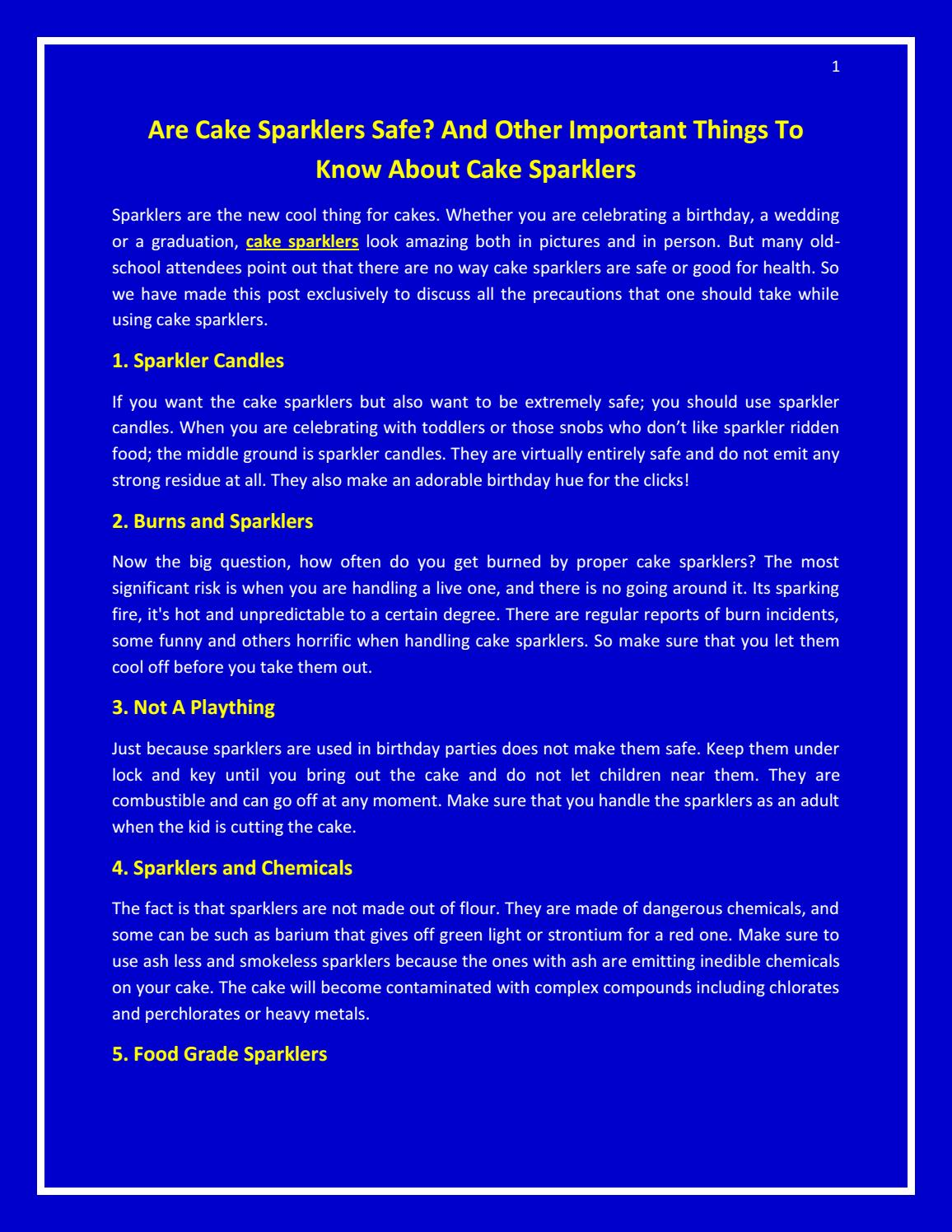 Outstanding Are Cake Sparklers Safe And Other Important Things To Know About Funny Birthday Cards Online Elaedamsfinfo